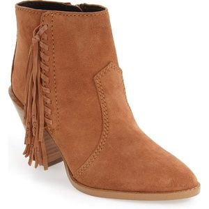 Coach Westyn Fringe Ankle Boots Booties Leather